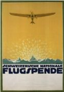 Vintage Swiss poster - Swiss National Airline donation (1914)